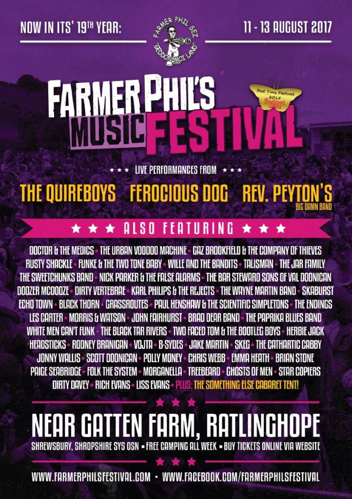 Farmer Phil's Festival 2017 flyer