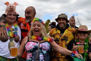 Hawaiian Fancy Dress theme at Farmer Phil's Festival 2015