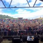 Funke and the Two Tone Baby's view from the Farmer Phil's stage