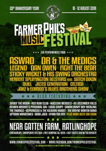 Farmer Phil's Festival 2018 Parlour Stage artists
